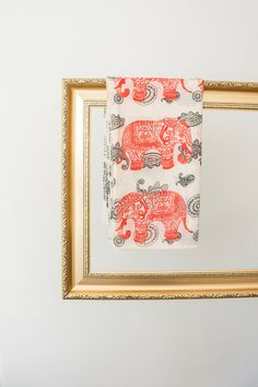 Elephant Scarf Elephant Print Scarf Elephant Pareo Boho by Urbe, $19.90