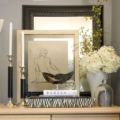A Tastefully Styled North Vancouver Residence By Maria Killam. Vignette via Design Shuffle
