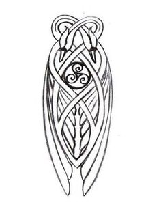 Celtic knotwork swans
