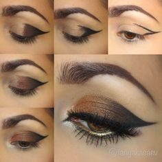 Beautiful makeup ideas inspo bronze copper tone makeup evening special occasion love gold brown pictorial makeup tutorial