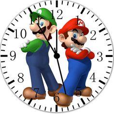 New Super Mario Luigi wall clock 10 Room Decor B123 Fast shipping