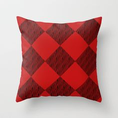 Black and Red  Throw Pillow by Tanja Riedel - $20.00