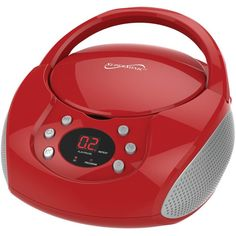Supersonic Bluetooth Portable Audio System With Cd Player (red)