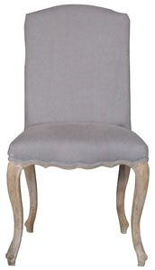 french quarter curved back side chair