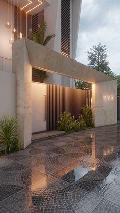 Architect Design House, House Gate Design, Duplex House Design, House Front Design, Villa Design, Gate Designs Modern, Modern Exterior House Designs, Bungalow Exterior, Dream House Exterior