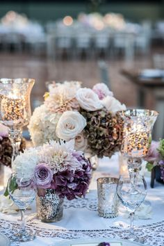 Blame it on George Stanley Banks, but I'm a backyard wedding kind of girl, especially when the backyard is decked out to the nines. This wedding from International Event Company is pretty much my dream, and Maya Myers Photography captured Mod Wedding, Purple Wedding, Wedding Table, Fall Wedding, Wedding Colors, Wedding Reception, Wedding Flowers, Elegant Wedding, Reception Ideas