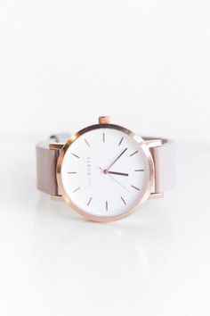 The Horse Watch Polished Rose Gold, Blush Leather Band