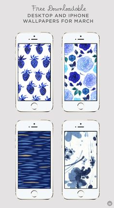 Want a simple way to get past the winter blues? Give your screen a much-needed spring makeover with this collection of free downloadable desktop and iPhone wallpapers. There's nothing like a fun pattern to brighten up your devices and increase productivity!