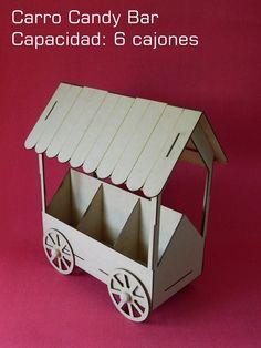 base carro para candy bar.
