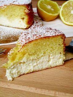 Torta al limone e ricotta (in cottura)