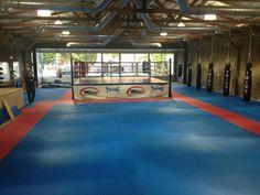 Come break in the new matting! Boxing Gym Design, Martial Arts Gym, Fight Gym, Gym Plans, Dream Gym, Mma Gym, Gym Interior, Dojo, Workout Rooms