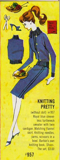Barbie - Knitting Pretty Royal Blue...I loved these little Barbie clothes catalogs.