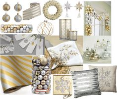 Gold and White Christmas Decor Ideas!