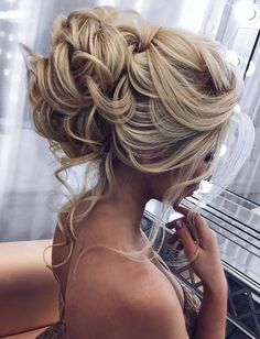 Wedding Hairstyles Inspiration : Wedding Hairstyles and Updos #weddings #hairstyles #fashion #weddingideas