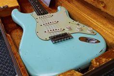L.A. Music Custom Guitars Fender Custom Shop Strat Relic '60 Stratocaster Surf Green Slightly Used 1510900857