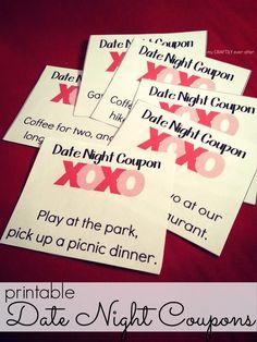 free printable love coupons decoration pinterest slow dance