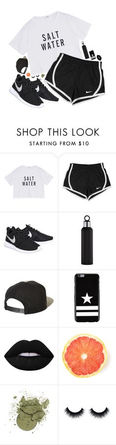 """""""don't look my way"""" by poppies-by-the-sea ❤ liked on Polyvore featuring NIKE, blomus, Brixton, Givenchy and Lime Crime"""