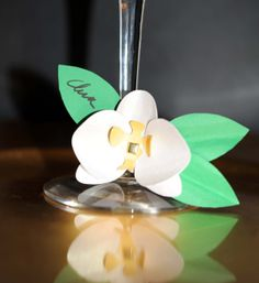 Orchid Place/Escort Cards by asweetgift on Etsy, $21.00