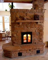 Some GORGEOUS masonry heaters from a builder...