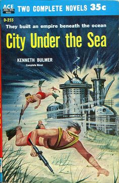 City Under the Sea #pulp #art #cover #adventures