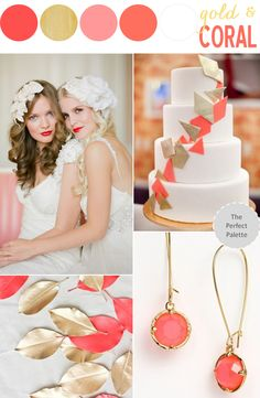 Color Story | Coral + Gold http://www.theperfectpalette.com/2013/09/color-story-coral-gold.html