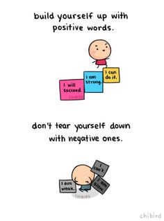 What you say to yourself can have a huge impact on your self confidence. Even though I know it's really easy to automatically say negative things about yourself… try to stay neutral, if not positive! :D