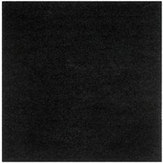 Monterey Shag Black 7 ft. x 7 ft. Square Area Rug
