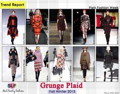 Grunge   Tartan #Plaid Pattern #Print #Fashion #Trend for Fall Winter 2013  More Plaid Pattern Print Fashion Trend for Fall Winter 2013.  #Punk #Grunge  #Trends   March 24th 2013 4:15 A.M. GMT