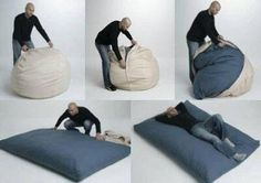Beanbag to giant pillow