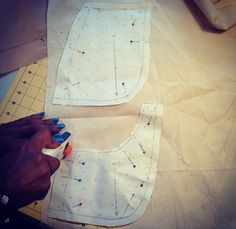 Busy day at the studios with lots of sewing... www.inseamstudios.com