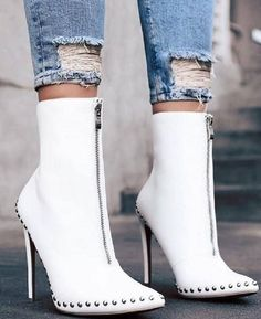 fc526082f75 Ankle Boots High Heels Pointed Toe 2 Colors