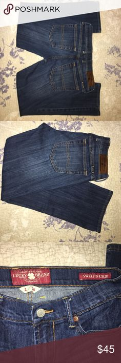 Lucky brand Sweet'n crop jeans Lucky Sweet'n crop jeans size 2/26. Used in good condition. Lucky Brand Jeans Ankle & Cropped