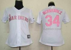 http://www.xjersey.com/mariners-34-hernandez-white-pink-number-women-jersey.html Only$35.00 MARINERS 34 HERNANDEZ WHITE PINK NUMBER WOMEN JERSEY #Free #Shipping!