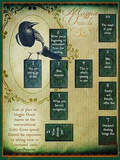 Magpie Oracle Celtic Cross Casting Sheet