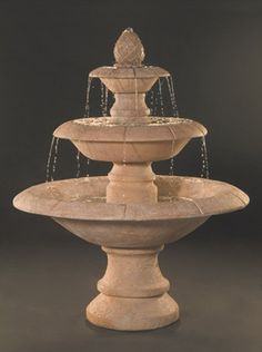 Venetian 3-Tier Fountain. Add a touch of elegance and class with this fountain in your courtyard or gardens.