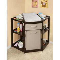 """Badger Basket Diaper Corner™ Baby Changing Table with Hamper/ Basket - Espresso - Badger Basket Toys - Babies """"R"""" Us"""