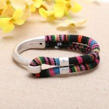 ickel free, lead free Zine - alloy accessories and cloth rope fashion bracelets  ETS-B0306