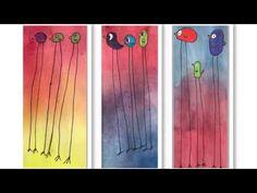 Vogeltjes met lange poten, birds with long legs