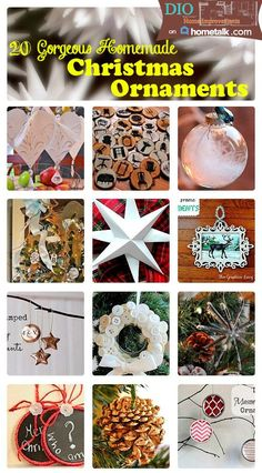 20 Gorgeous Homemade Christmas Ornaments
