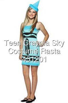 Teen Crayola Sky Blue Costume Rasta Imposta 451201#651