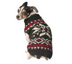 Chilly Dog Snowflake Dog Sweater X-Large Black