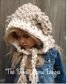 Crochet PATTERN-The Lyra Lamb Hood  (12/18 month,Toddler, Child, Adult sizes)