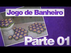 Flor para tapetes em crochês - Artesanatos em Crochê Vanda - YouTube