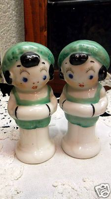 Vintage Art Deco Flapper Bathing Suit Girl Salt Pepper Shaker Set Japan | eBay