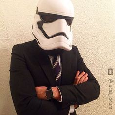 Suit up!  #regram from @lucas_locura #stormtrooper #starwars #theforceawakens #starwarsVii #starwars7 #starwarsfans ..... ..... #fun #deguisement #disfraz #Kostüm #maske #karneval