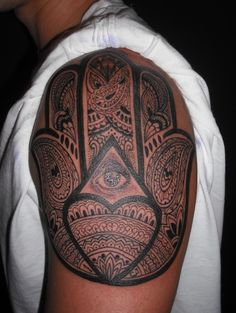 Detailed Hamsa Tattoo