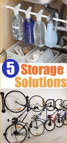 5 Storage Solutions for inside and outside the home.