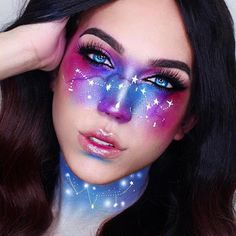 Are you looking for ideas for your Halloween make-up? Browse around this site for creepy Halloween makeup looks. Eye Makeup Art, Diy Makeup, Makeup Ideas, Makeup Tutorials, Alien Makeup, Makeup Tips, Movie Makeup, Star Makeup, Makeup Designs