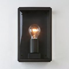 Astro Homefield Outdoor Wall Light - Bronze with Clear Glass
