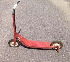 Hey, I found this really awesome Etsy listing at https://www.etsy.com/listing/198424157/vintage-metal-toy-sports-scooter-red